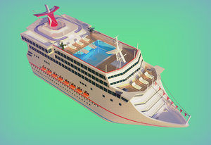 3D cartoon boat model
