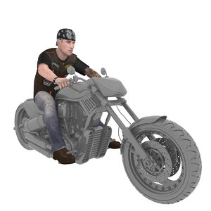 rigged biker 2 model