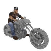 rigged biker 3D model