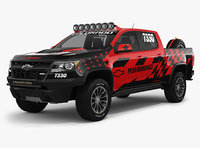 3D chevrolet colorado zr2 2018 model