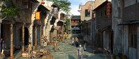 Qing Dynasty - Market - Street scenes