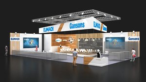 3D model exhibition stall 12x19 2