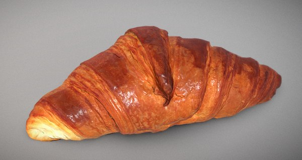 3D french croissant