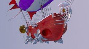 santa claus ship model