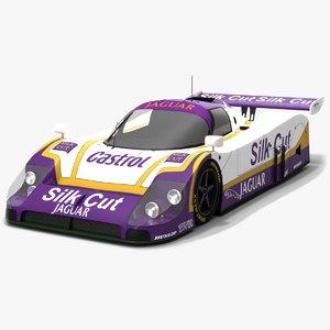 xjr-9lm xjr-9 race car 3D model