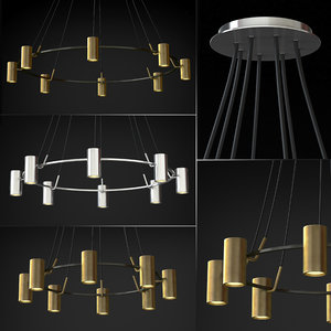 3D chandelier champeaux model