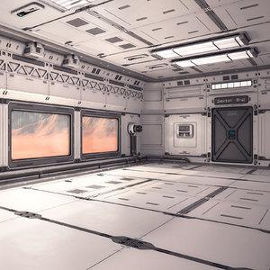sci fi lab interior 3D model