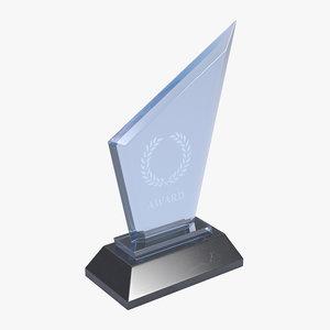 3D model crystal award
