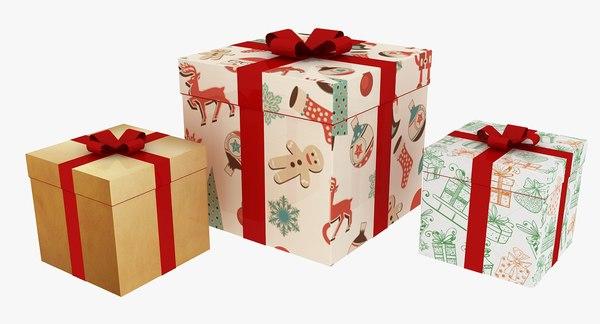 3D christmas gift model