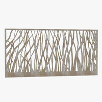 wall frame metal 3D