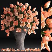 3D bouquet tulips decor