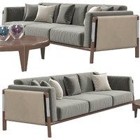 3D model giorgetti urban sofa table