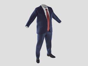 suit fat 3D model