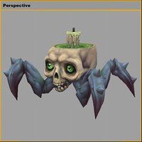 hell spider 3D model