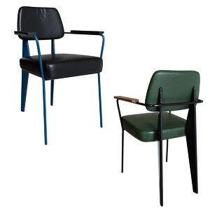 3D kolten metal arm chair model