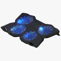 cooling pad laptops fans 3D model