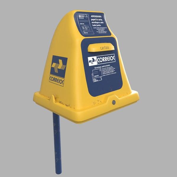 3D model brazilian mail box