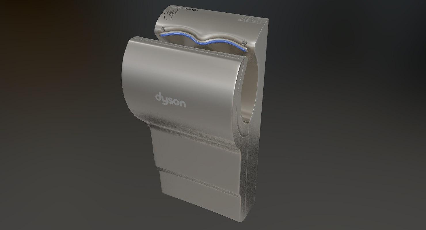 3D dyson airblade hand dryer