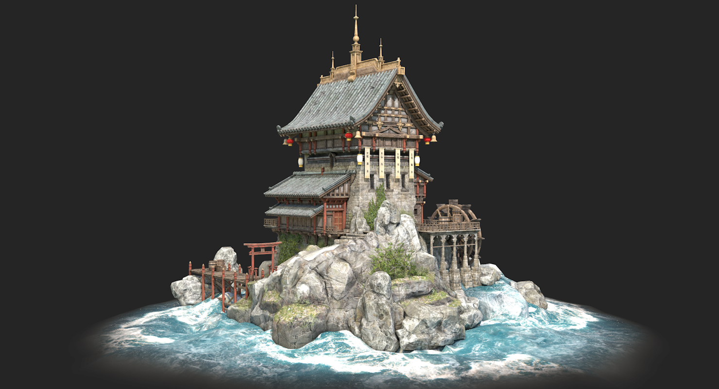 chinese house 3D model