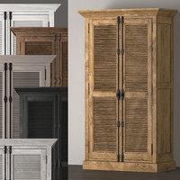 shutter double-door cabinet model