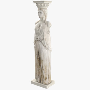 3D caryatid architectural column