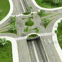 3D intersection road