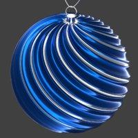 christmas ball blue 3D model