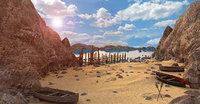 landscape beach 3D