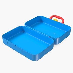 3D open toy tools box