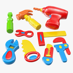 plastic toy tools 3D