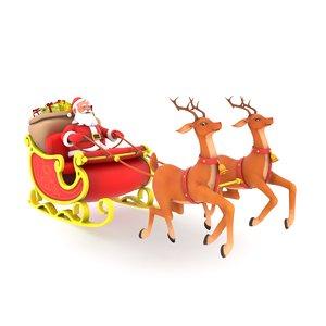 3D santa sleigh