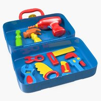 plastic toy tools set 3D model
