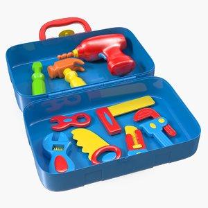 plastic toy tools set 3D model