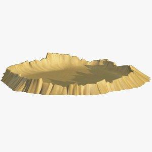 3D moon crater model