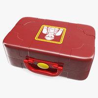3D model closed toy tools box