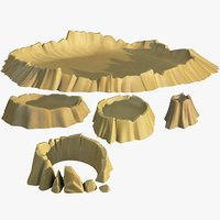 3D set craters model