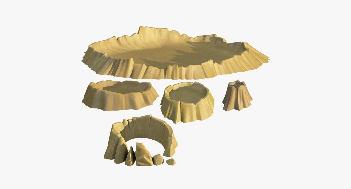 3D set craters model