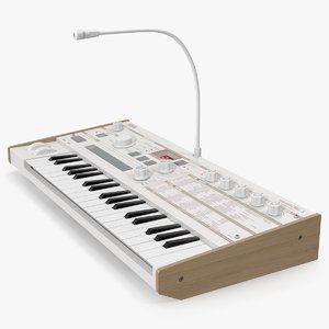 3D model korg microkorg synthesizer vocoder