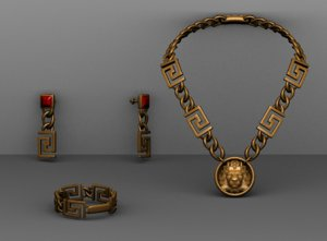 necklace 3D model