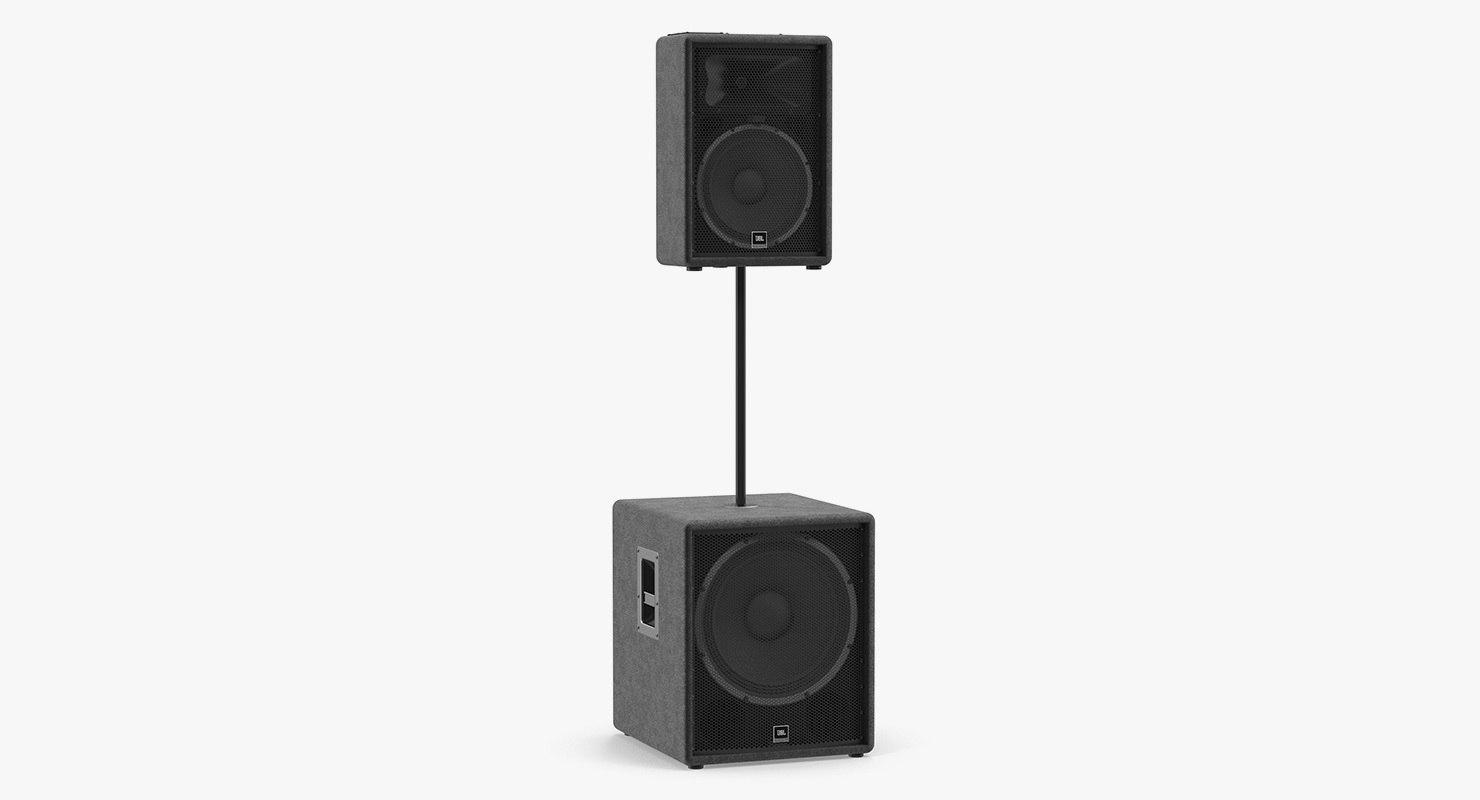 jbl passive speakers 3D