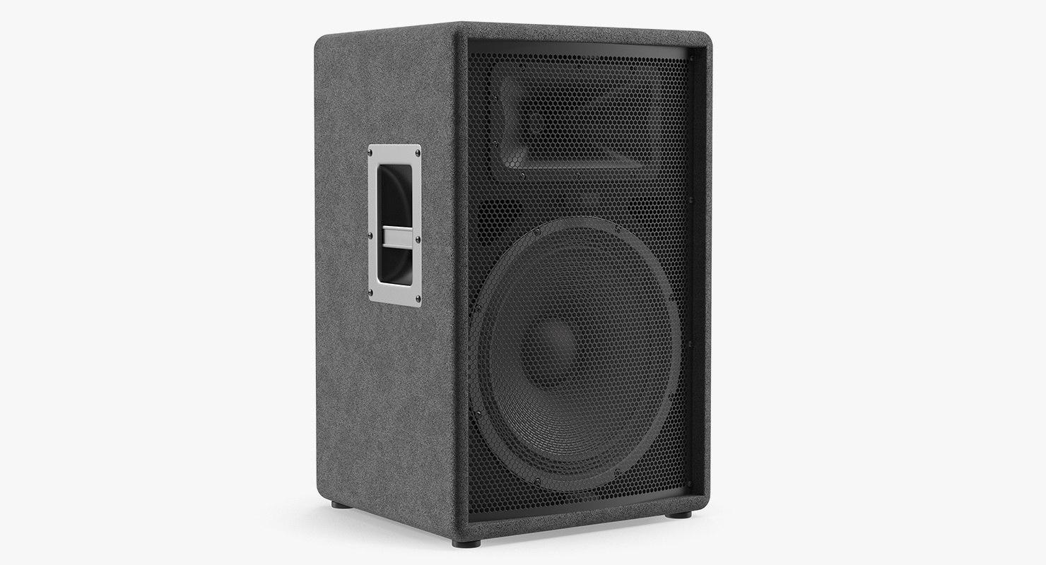 passive speaker 3D model