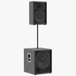 3D passive speakers generic model