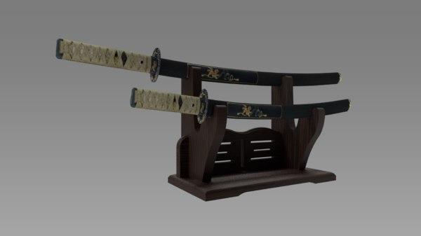 samurai sword 3D