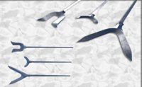 set japanese arrows 3D model