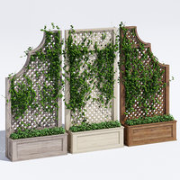 3D trellises planters model