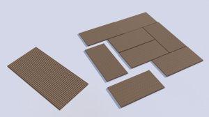 3D model tatami mats japanese