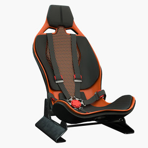 3D racing seat model