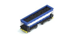 3D coal cargo train