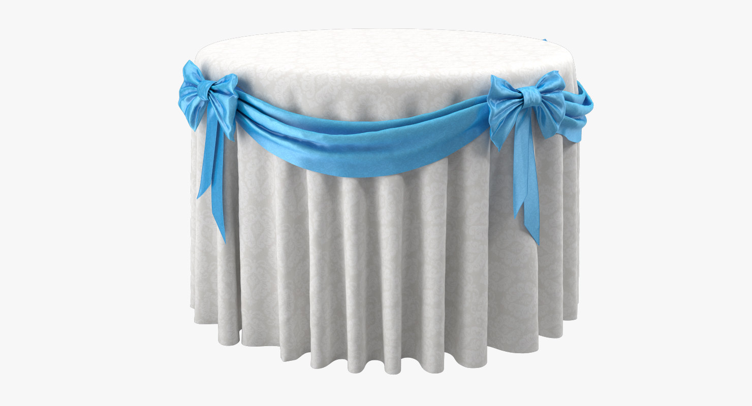 3D banquet restaurant table