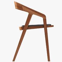 3D katakana chair model